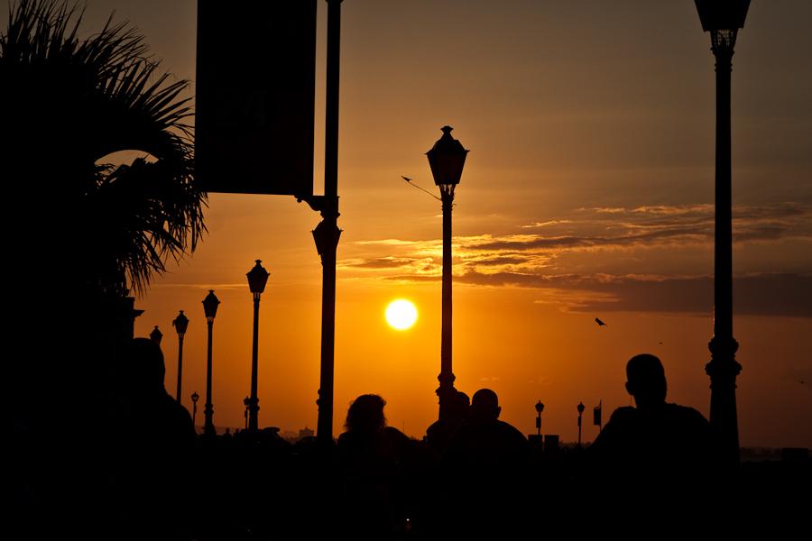 Sunset in Old San Juan