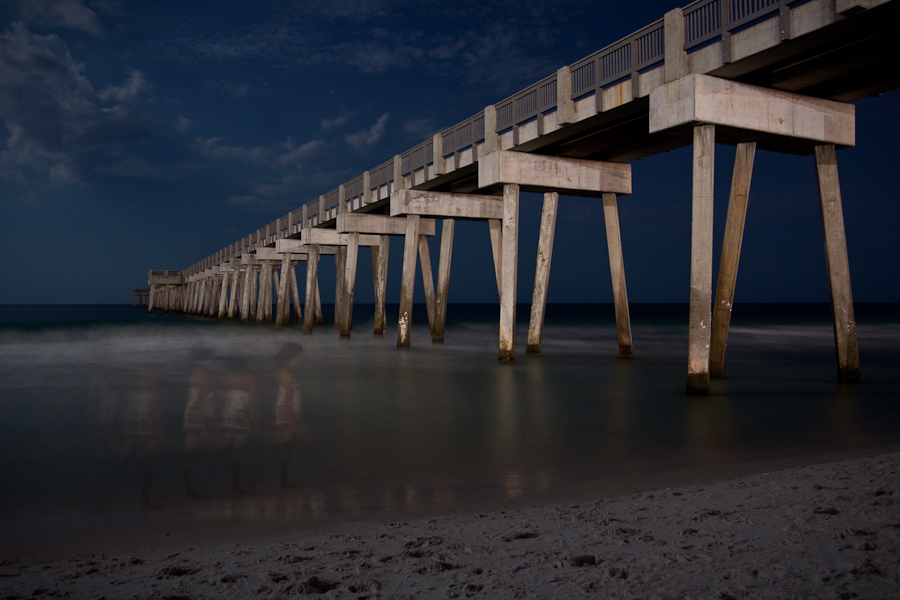 panama city beach at night