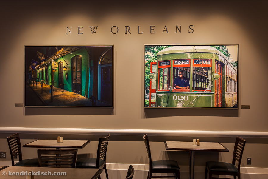 New Orleans Selections as part of the permanent exhibit in corporate cafeteria