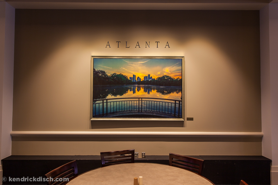 Atlanta selection as part of the Permanent Art Exhibit in Corporate Cafeteria