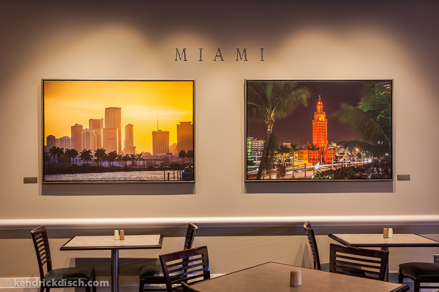 Miami Selections as part of the Permanent Art Exhibit in Corporate Cafeteria