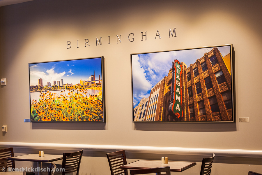 Birmingham selections as part of the Permanent Art Exhibit in Corporate Cafeteria