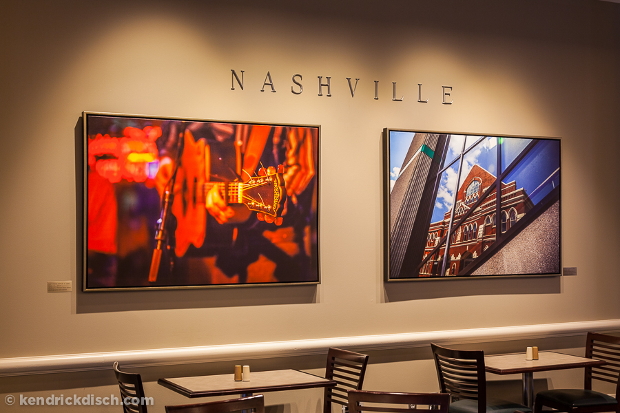 Nashville selections as part of the Permanent Art Exhibit in Corporate Cafeteria