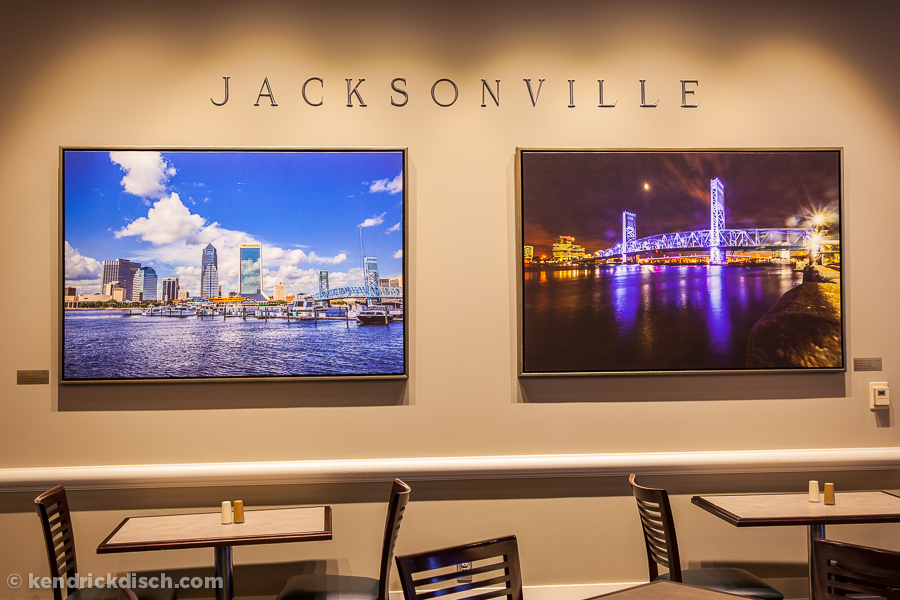 Jacksonville selections as part of the Permanent Art Exhibit in Corporate Cafeteria