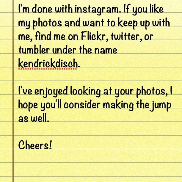 Leaving Instagram