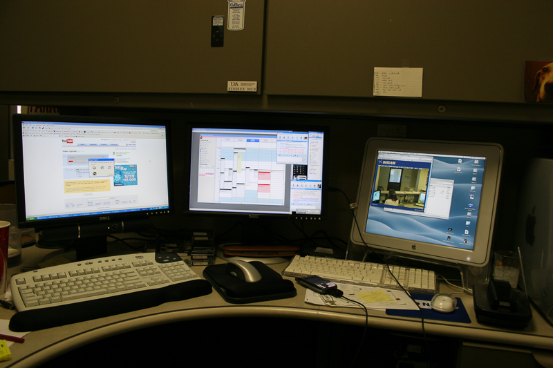 My office at the Multimedia Lab at the University of Arkansas.