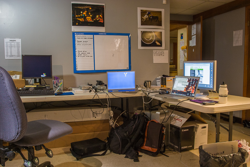 My office at the Maine Media Workshops