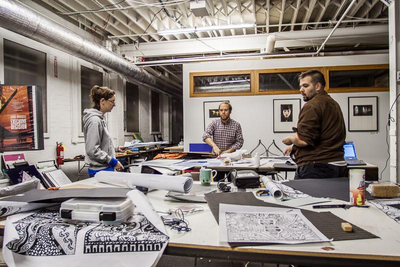 2009 - Design students doing analog stuff at the Portfolio Center