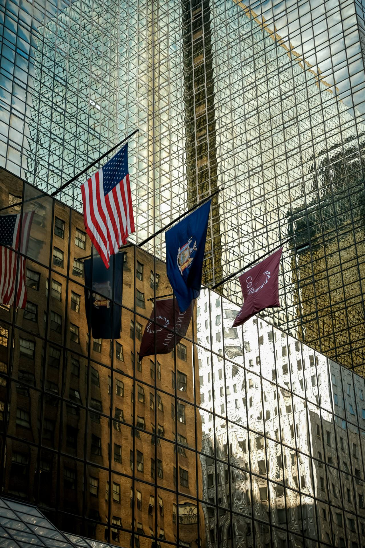 Flags in New York City