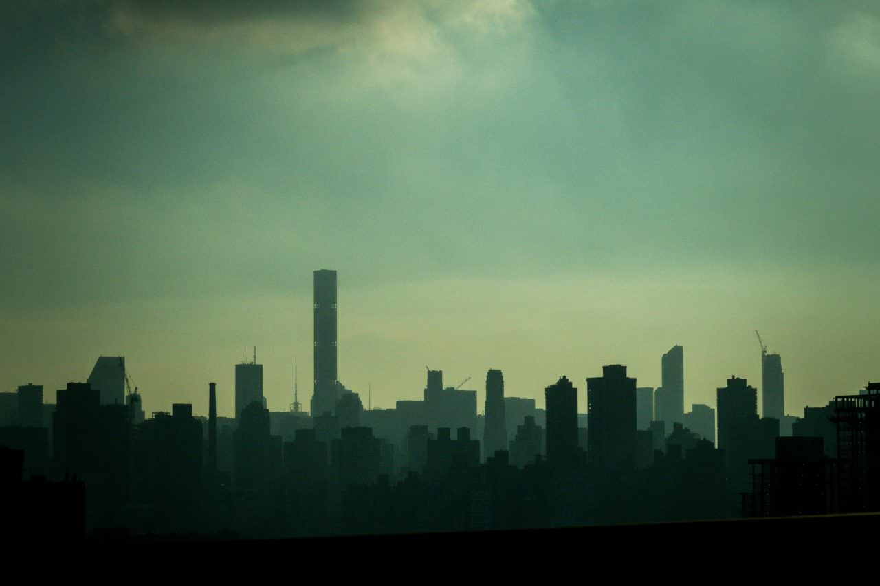 New York as seen from a cab